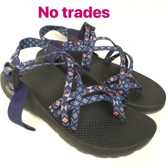 Chaco Sz 9 Blue Orange Womens Sandals